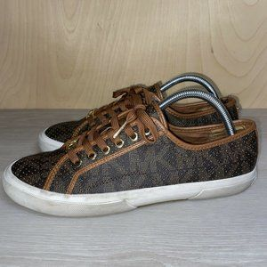 Michael Kors Lace Up Sneaker Brown Women's 9.5